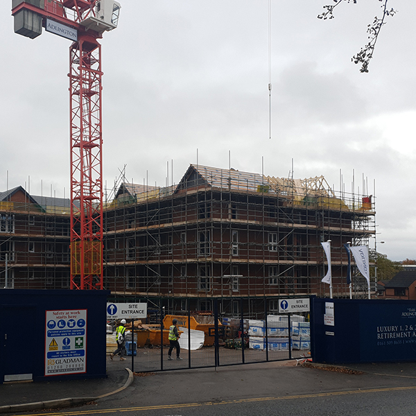 Luxury retirement apartments being built in Romiley